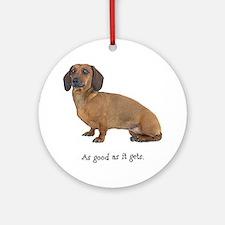 Good Dachshund Ornament (Round)