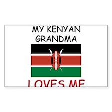 My Kenyan Grandma Loves Me Rectangle Decal