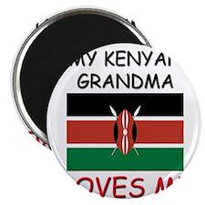 """My Kenyan Grandma Loves Me 2.25"""" Magnet (10 pack)"""