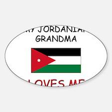 My Jordanian Grandma Loves Me Oval Decal