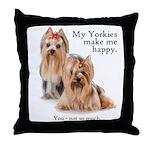 My Yorkies Throw Pillow