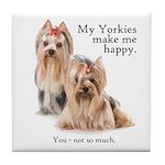 My Yorkies Tile Coaster