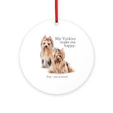 My Yorkies Ornament (Round)