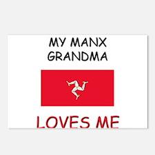 My Manx Grandma Loves Me Postcards (Package of 8)
