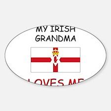 My Irish Grandma Loves Me Oval Decal