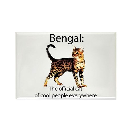 Cool people love bengals Rectangle Magnet