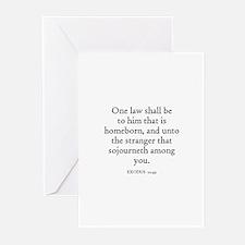EXODUS  12:49 Greeting Cards (Pk of 10)