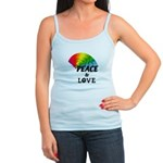 Rainbow Peace Love Jr. Spaghetti Tank