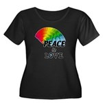 Rainbow Women's Plus Size Scoop Neck Dark T-Shirt