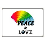 Rainbow Peace Love Banner