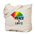 Rainbow Peace Love Tote Bag