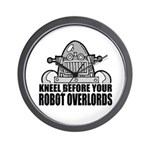 Robot Overlords Wall Clock