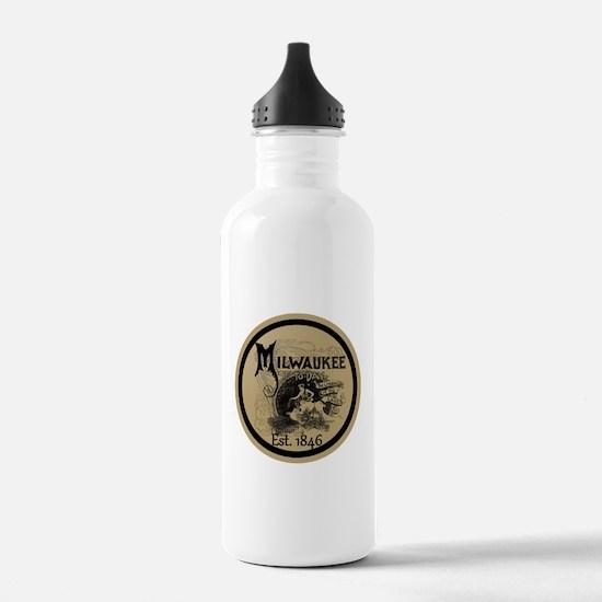 milwaukee slogan - cre Water Bottle
