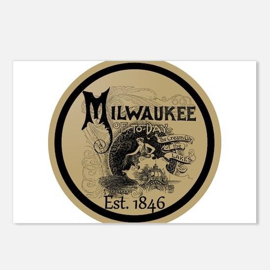 milwaukee slogan - cream Postcards (Package of 8)