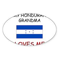 My Honduran Grandma Loves Me Oval Decal