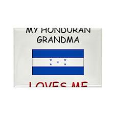 My Honduran Grandma Loves Me Rectangle Magnet
