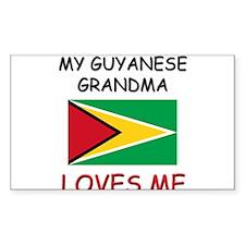 My Guyanese Grandma Loves Me Rectangle Decal