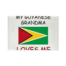 My Guyanese Grandma Loves Me Rectangle Magnet