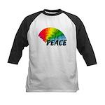 Rainbow Peace Kids Baseball Jersey
