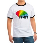 Rainbow Peace Ringer T
