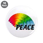 "Rainbow Peace 3.5"" Button (10 pack)"