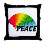 Rainbow Peace Throw Pillow