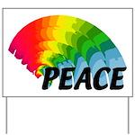 Rainbow Peace Yard Sign