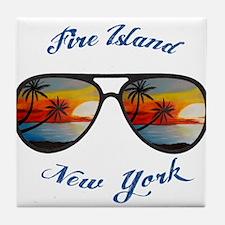 New York - Fire Island Tile Coaster