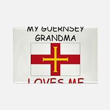 My Guernsey Grandma Loves Me Rectangle Magnet