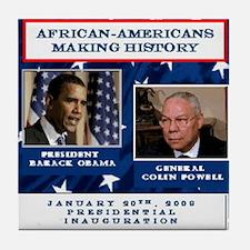 Unique Presidential inauguration 2009 Tile Coaster