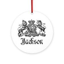 Jackson Vintage Crest Family Name Ornament (Round)
