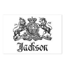 Jackson Vintage Crest Family Name Postcards (Packa