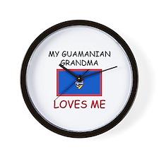 My Guamanian Grandma Loves Me Wall Clock