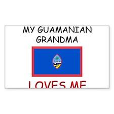 My Guamanian Grandma Loves Me Rectangle Decal