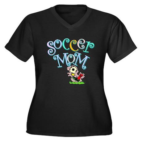 Soccer Mom (colorful) Women's Plus Size V-Neck Dar