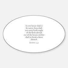 EXODUS 12:46 Oval Decal
