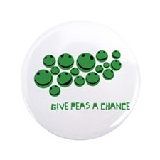 "Give Peas A Chance 3.5"" Button"