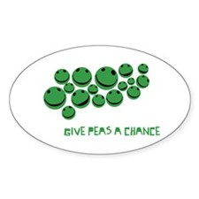Give Peas A Chance Oval Decal