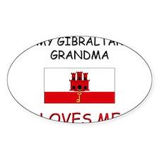 My Gibraltar Grandma Loves Me Oval Decal