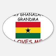 My Ghanaian Grandma Loves Me Oval Decal