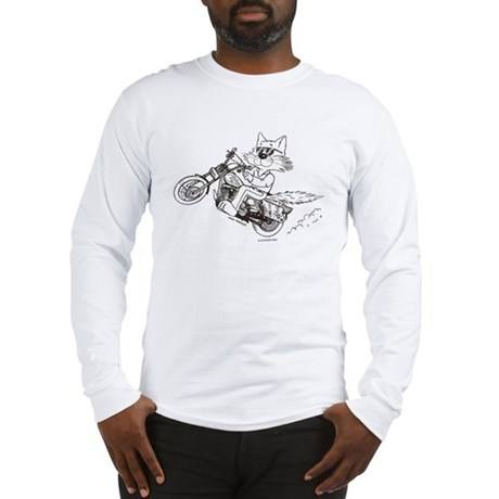 Motorcycle Cat Long Sleeve T-Shirt