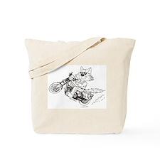 Motorcycle Cat Tote Bag