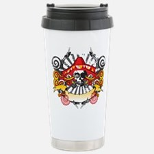 Festive Skull Stainless Steel Travel Mug