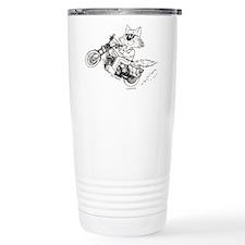 Motorcycle Cat Travel Mug