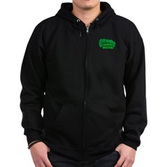 Choppin' Broccoli Zip Hoodie (dark)