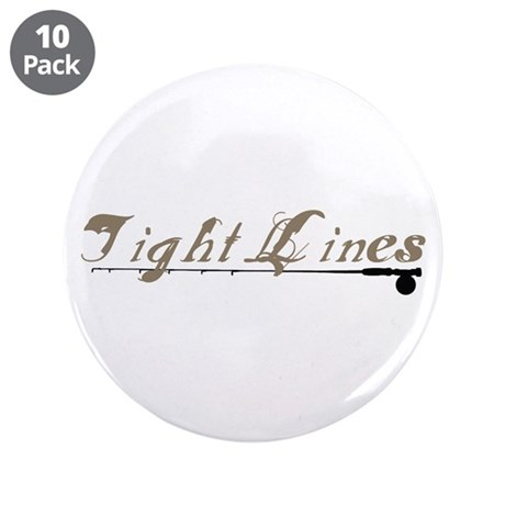 """Tight Lines Fishing 3.5"""" Button (10 pack)"""