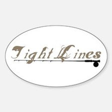Tight Lines Fishing Oval Decal