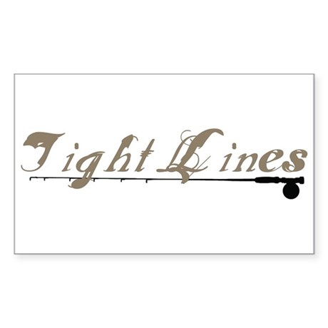 Tight Lines Fishing Rectangle Sticker