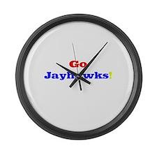 Go Jayhawks! Large Wall Clock