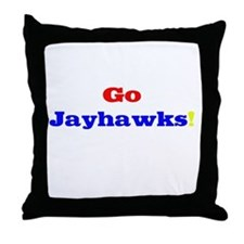 Go Jayhawks! Throw Pillow